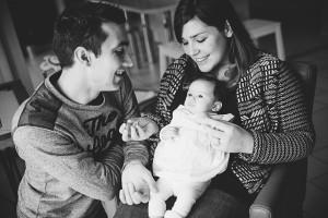 famille portraits avec bébé