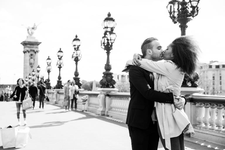amoureux sur le pont alexandre 3