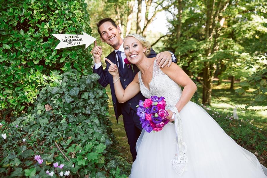 les mariés au Domaine des Bidaudières