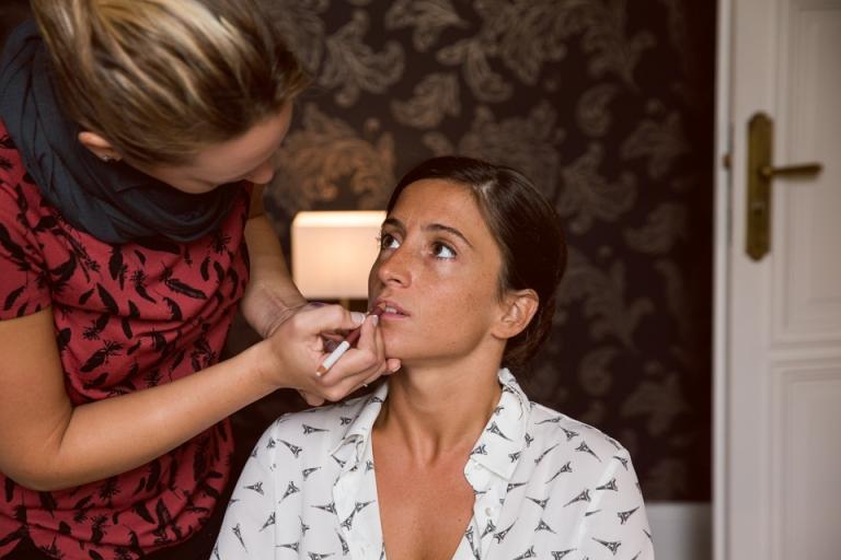 préparatifs, maquillage à la Maison Jules à Tours