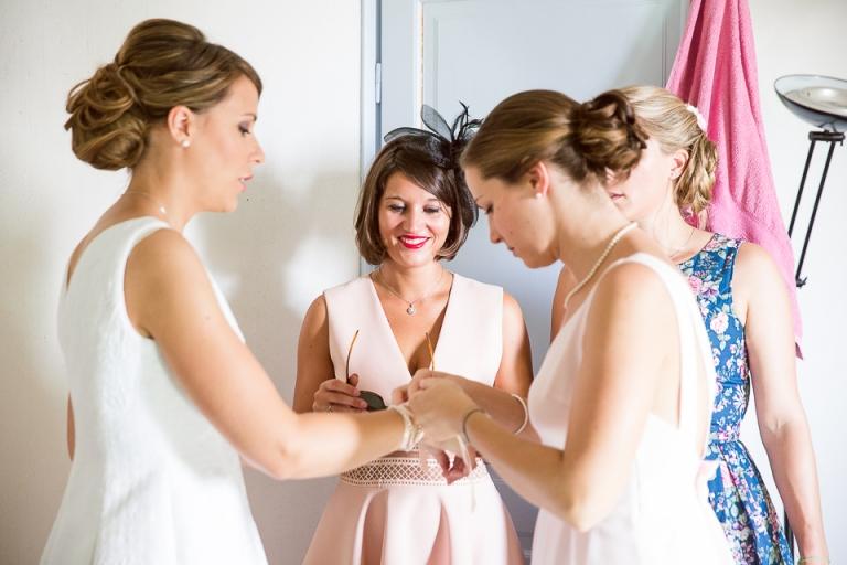 habillage de la mariée à Tours