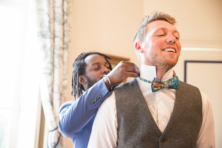 habillage du marié