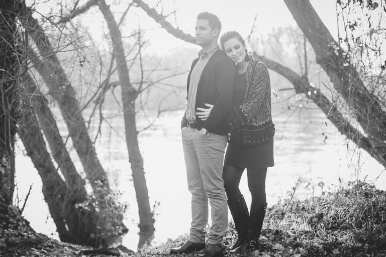 couple en bords de Loire à Tours