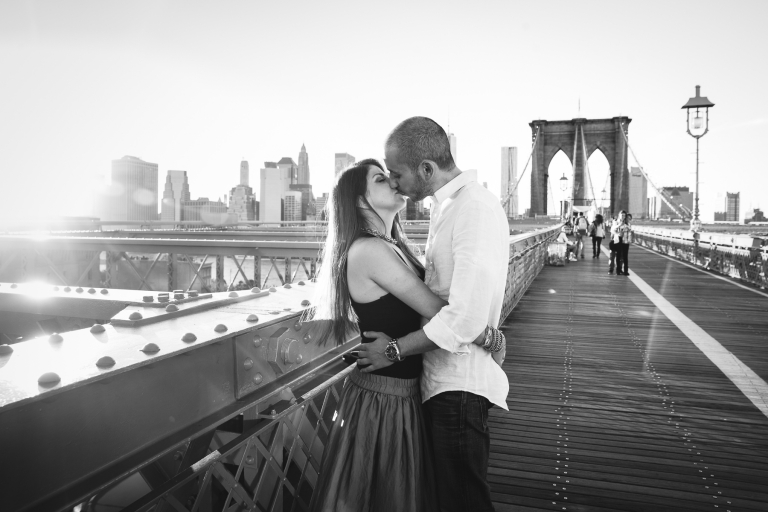 Les mariés au Brooklin Bridge