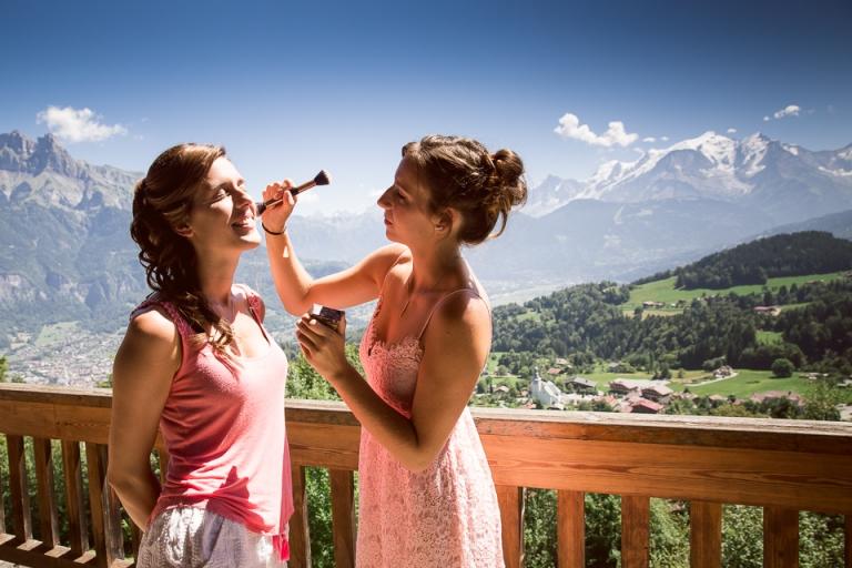 maquillage de mariage avec vue sur cordon