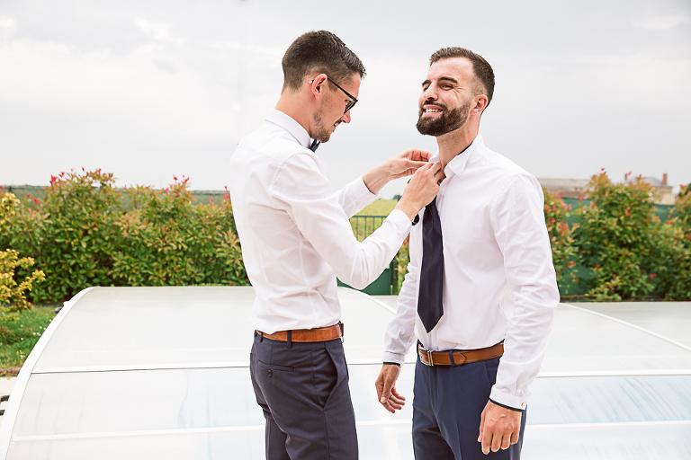 habillage du marié tours